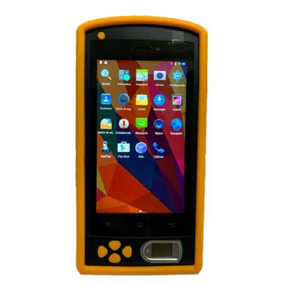 Smartphone con lector de huella para control de asistencia